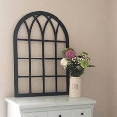 Laser Cut Window Arch Farmhouse Style