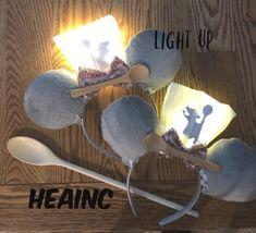 Light up Ratatouille ears ratatouille little chef Mickey | Etsy Disney Ears Headband, Disney Hair Bows, Diy Disney Ears, Disney Mickey Ears, Disney Gift, Minnie Mouse, Disney World Outfits, Little Chef, Halloween Birthday
