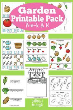 Free Garden theme Printables for Preschool and Kindergarten