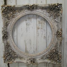 Antique Picture Frames, Vintage Photo Frames, Old Frames, Collage Frames, Frames On Wall, Mirror Painting, Painting Frames, Shabby Chic Frames, Architectural Elements