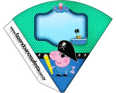 Cone Guloseimas George Pig Pirata: