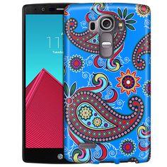 LG G4 Paisley Flower on Blue Slim Case