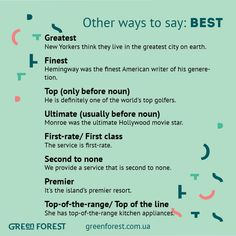 Other ways to say: Best