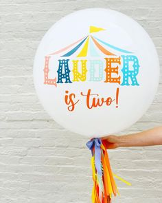 Circus Theme Jumbo Balloon for birthday party Circus Birthday, Circus Theme, Birthday Balloons, Birthday Party Themes, Birthday Cake, Jumbo Balloons, Rock Paper Scissors, Our Love, Profile