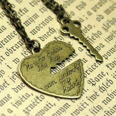 He Who Holds The Key 2 necklace set by ragtrader on Etsy, $