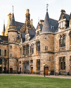 University of #Glasgow in Scotland - Gilmorehill Campus, Main building. The university was established 1451 making it the fourth-oldest university in the English-speaking world.