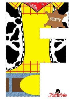 Woody Free Alphabet. Alfabeto de Woody.  Toy Story.