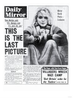 Marilyn Monroe - very sad story of this beautiful woman.