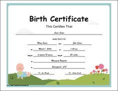 Reborn doll birth certificate reborn dolls pinterest reborn certificate of birth printable certificate yadclub Image collections