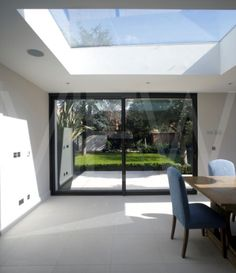 Interior view of a kitchen extension Designed by Lab Architects this kitchen provides a modern dinin