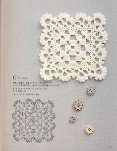 ISSUU - Crochet motif and edging by vlinderieke