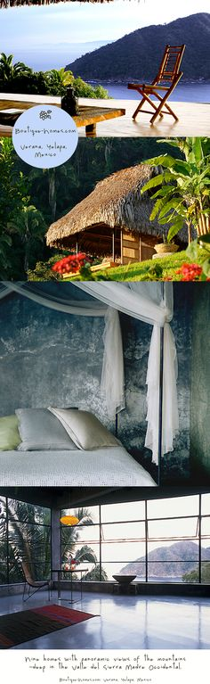 Exotic places to visit. 9 homes to rent via www.Boutique-Homes.com in Verana Yelapa Mexico