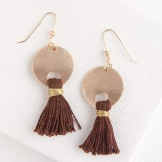 Venus Tassels Earrings  // Fashionably boho chic to wear day or night