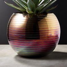 Juno Iridescent Planter-Vase   CB2