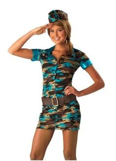 Funny & Scary Halloween Costumes for Teenagers 2018 - Halloween is usually celebrated in a number of countries on 31 October. It is also referred to as Allhalloween, All Saints' Eve, and All Hallows' Eve. Army Halloween Costumes, Army Girl Costumes, Army Costume, Fancy Costumes, Halloween Fancy Dress, Adult Costumes, Scary Halloween, Halloween Stuff, Halloween Ideas
