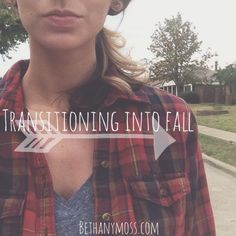 bethanymoss - Transitioning into Fall... #fall #fashion #flannel #boots #style #blog