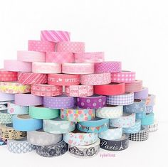 For all your Snail Mail Ideas and new penpals! Washi Tape Crafts, Duck Tape Crafts, Washi Tapes, Birthday Gifts For Teens, Teen Birthday, Design Tape, Duct Tape Flowers, Cute Stationary, Tape Art
