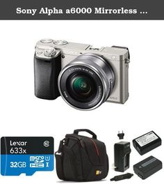 Sony Alpha a6000 Mirrorless Digital Camera with 16-50mm Power Zoom Lens (Silver) Deluxe Bundle. 24 MP APS-C CMOS sensor. Premium memory solution for sports camcorders, tablets, and smartphones. Camera Bag Compatible with Most Compact System, Hybrid and High Zoom Cameras, Quality Materials and Logical Organization Ensure Your Camera Is Stored Safely Inside, yet Instantly Accessible. 2 Batteries & 1 Charger For The Sony Np-fw50.