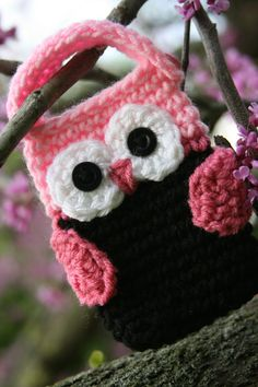 Owl Cell phone cozy / holder. Oh my gosh adorable!