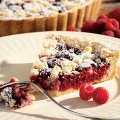 Raspberry-Almond Crumble Tart