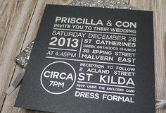 Modern Silver Foil Invitation