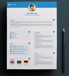 Free Clean  Minimal Resume Template  Print Design