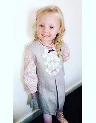 50234a68e7836 Thank you to Ashleigh Menzies for sending in this sweet photo of Darcie in  a fabulous Abella dress. Childrens Outlet