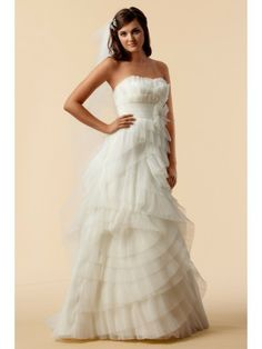a280453c2b59 Tulle Strapless Sweet Crumb Neckline Wedding Dress Cute Wedding Dress,  Colored Wedding Dresses, Used