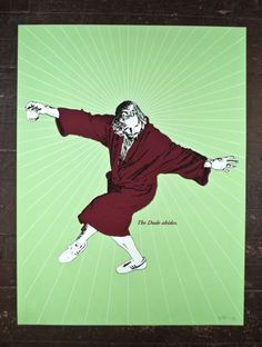 The Dude from the Big Lebowski limited edition screen printed poster series. 18 x 24