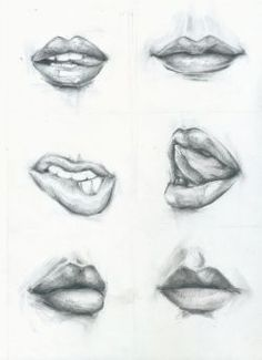 Как рисовать губы - Google Search