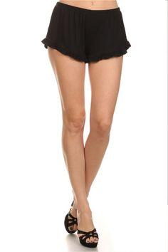 Take a Chance Ruffle Knit Shorts