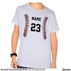 Baseball Stitching Personalized Baseball Shirts for kids to adults. Lots of styles of baseball apparel, jackets, shirts and more CLICK: http://www.zazzle.com/baseball_stitches_baseball_shirts_personalized-235019448195529145?rf=238012603407381242 Choose your Style, Color and Size of various baseball clothing for boys and men, women or girls. More here: http://www.Zazzle.com/YourSportsGifts Call us for HELP or Changes: 239-949-9090