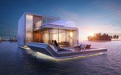 Schwimmende Luxushotels in Dubai mit Unterwasser-Aussicht