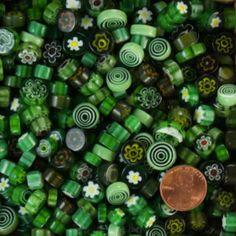 Green Millefiori by Mud Turtle Mosaic