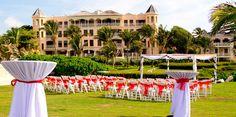 outdoor wedding ceremony at Crane Beach Resort via Renaissance Designs Inc., Barbados