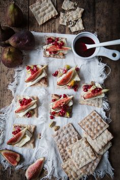 Lukewarm Camembert Cake with Pomegranate Syrup, Figs & Pistachio
