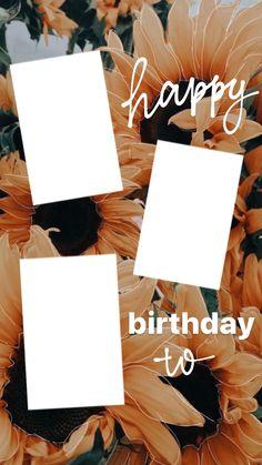 Happy Birthday Template, Happy Birthday Frame, Birthday Posts, Birthday Frames, Instagram Photo Editing, Story Instagram, Creative Instagram Stories, Instagram And Snapchat, Birthday Captions Instagram
