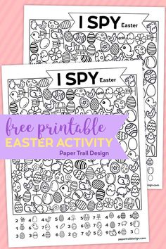 Easter themed I spy activity for kids! Keep kids busy and screen free when your kids say I'm bored or on a rainy day with this free printable. Easter sayings Free Printable I Spy Easter Activity - Paper Trail Design sayings for kids Easter Coloring Pages Printable, Easter Worksheets, Target Dollar Spot, Jelly Beans, Snoopy T-shirt, Catholic Easter, Easter Quotes, Easter Sayings, Easter Activities For Kids