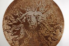 Penny Floor Designs, Pennies Crafts, Penny Table, Pennies From Heaven, Coin Art, Glue Crafts, Retail Design, Mosaic Art, Decoration