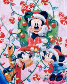 Minnie Mouse Christmas, Mickey Mouse And Friends, Mickey Minnie Mouse, Disney Mickey, Christmas Love, A Christmas Story, Christmas Pictures, Celebrating Christmas, Xmas