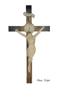 Crucifix de Henri Dubé. Crucifix, Folk, Sculptures, Symbols, Painting, Art, Popular, Icons, Painting Art