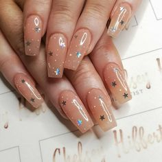 Nails aesthetic chelsey Hibbert Nails Artist on GLOWING the_manicure_company Insp. chelsey Hibbert Nails Artist auf GLOWING the_manicure_company Inspiriert von NAF! Salon Kunst / a Best Acrylic Nails, Acrylic Nail Designs, Star Nail Designs, Simple Nail Designs, Acrylic Nail Art, Summer Acrylic Nails Designs, Best Nail Designs, Colored Acrylic Nails, Simple Acrylic Nails