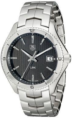 #MensStyle #Watches TAG Heuer Men's WAT1110.BA0950 Link Black Dial Watch