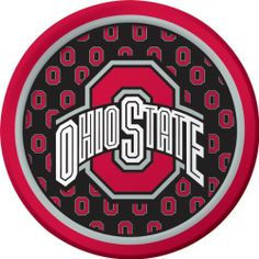 "Creative Converting Ohio State Buckeyes Dessert Paper Plates (8 Count) by Creative Converting. $5.99. Collegiate NCAA team logo dessert paper plates. The perfect supplies for your tailgating, Bowl game or sports themed party - show your team spirit and pride. Measures 7"" diameter. See Creative Converting's coordinating line of party favors and dinnerware - inflatable fingers, wrist bands, head bands, pom poms, cheer sticks, cups, plates, napkins, chip trays and d..."