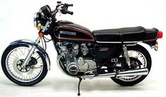 My first motorcycle was similar to this one.  Total Motorcycle - 1978 Suzuki GS550E