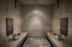 Image 5 of 47 from gallery of Entre Cielos Hotel & Spa / estudio. Courtesy of estudio Spa Interior, Spa Luxe, Spa Bedroom, Moroccan Bathroom, Concrete Bathroom, Bathroom Faucets, Dream Bathrooms, White Bathrooms, Luxury Bathrooms