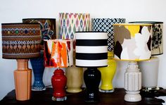 I have been looking for this! Buy cheap lampshades at goodwill, get fabric on sale at Joanne's and boom, beautiful lampshade for 1/3 od the price.