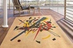 Mid Century Modern Custom Rug Inspired by Kandinsky Kandinsky, Prairie Style Houses, Custom Rugs, Mid Century Modern Design, Contemporary Rugs, Craftsman Style, Mid-century Modern, Carpet, Kids Rugs