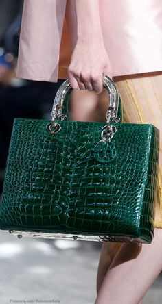 Christian Dior Spring 2014 Emerald Alligator Lady Dior
