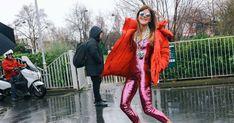 Anna Dello Russo in Saint Laurent and Balenciaga